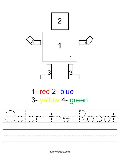 Color the Robot Worksheet