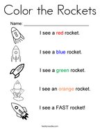 Color the Rockets Coloring Page