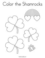 Color the Shamrocks Coloring Page