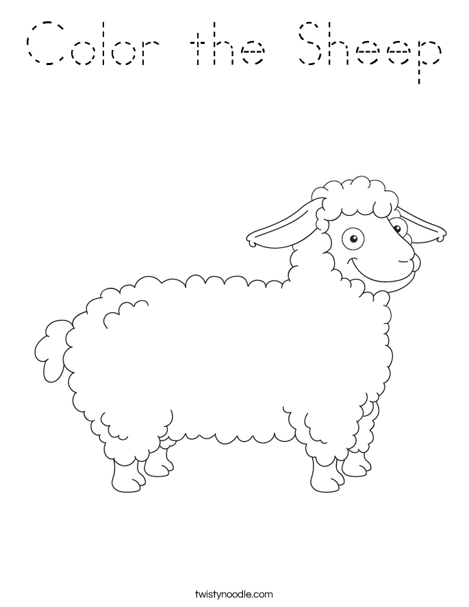Color the Sheep Coloring Page