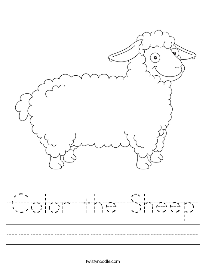 Color the Sheep Worksheet