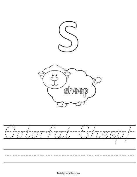 Color the Sheep Worksheet