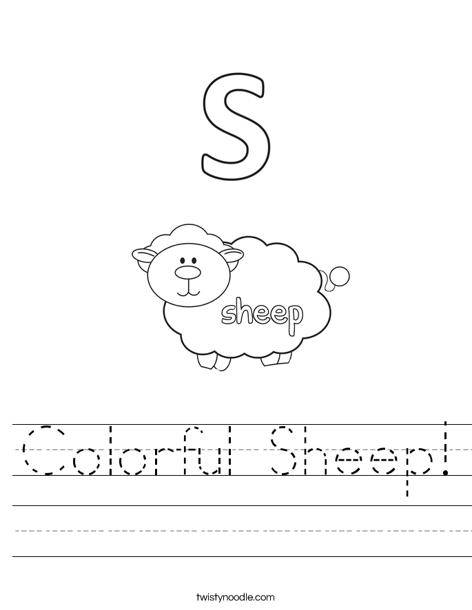 Colorful Sheep! Worksheet