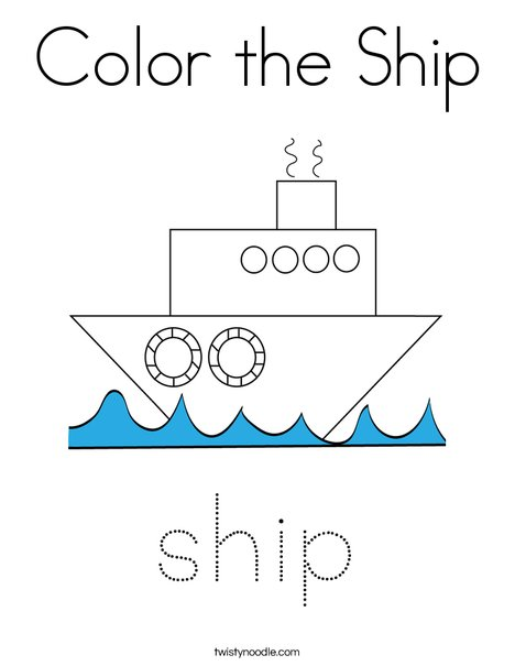Color the Ship Coloring Page