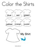 Color the Shirts Coloring Page