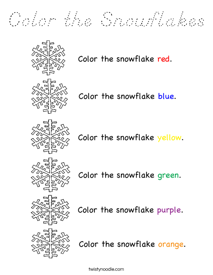 Color the Snowflakes Coloring Page