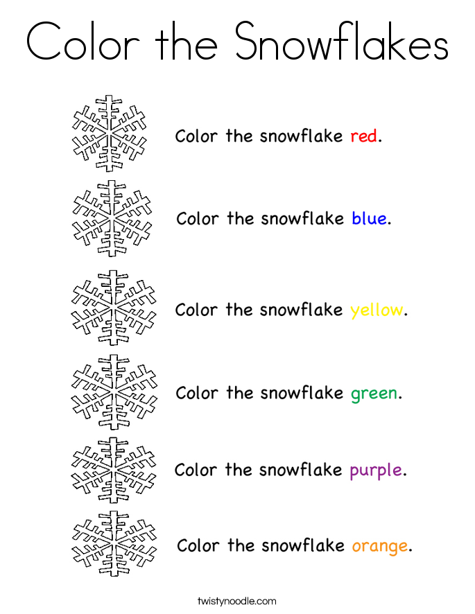 color the snowflakes coloring page - Snowflake Coloring Page