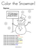 Color the Snowman! Coloring Page