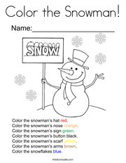 Color the Snowman Coloring Page