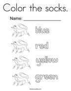 Color the socks Coloring Page