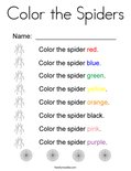 Color the Spiders Coloring Page