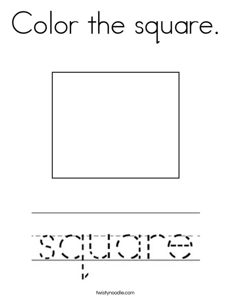 Color the square. Coloring Page