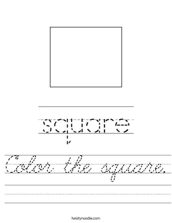 Color the square. Worksheet