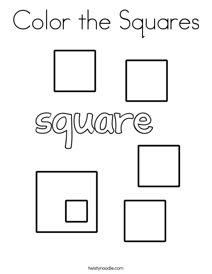 coloring pages for square shape - photo#6