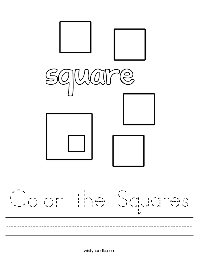 Color the Squares Worksheet