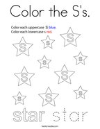 Color the S's Coloring Page