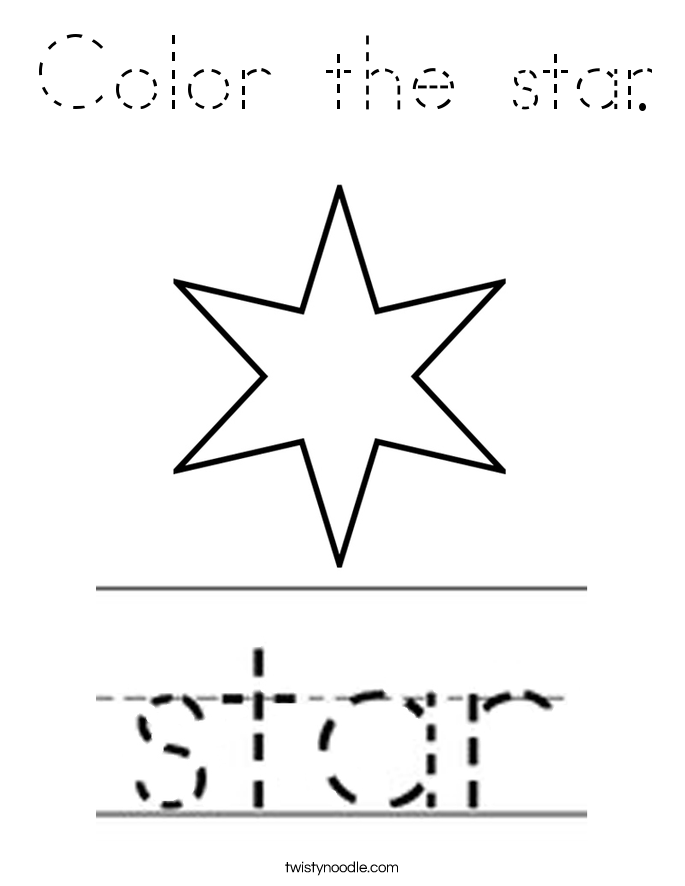 Color the star. Coloring Page