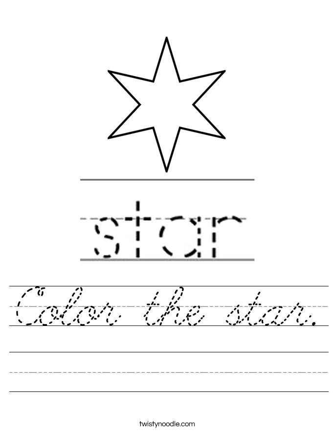 Color the star. Worksheet