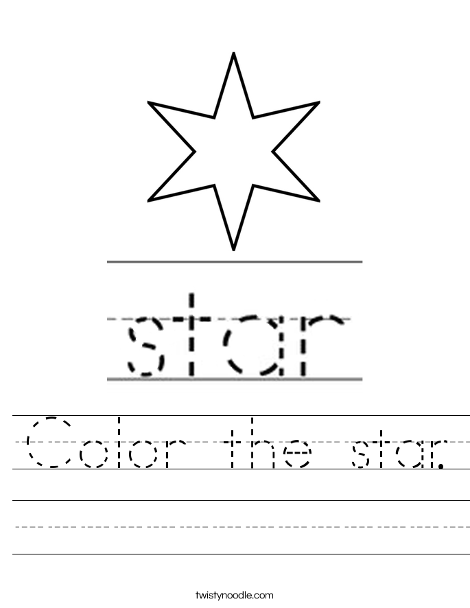 Color the star. Worksheet