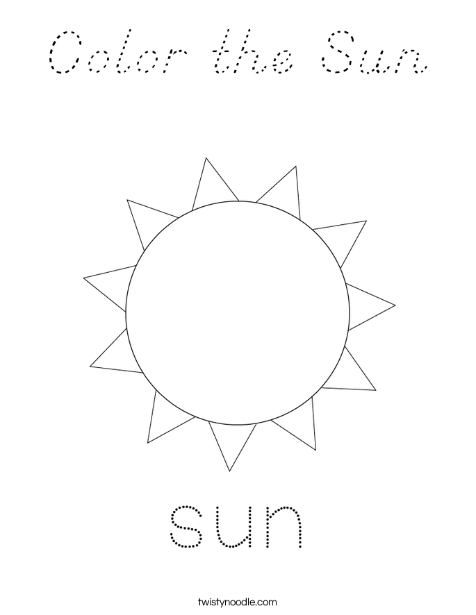 Color the Sun Coloring Page