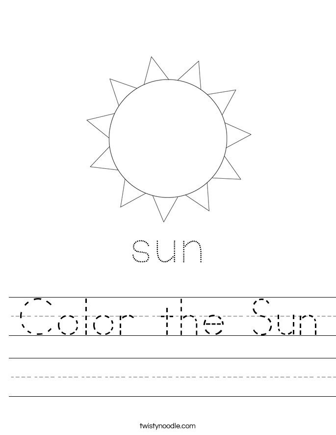 Color the Sun Worksheet