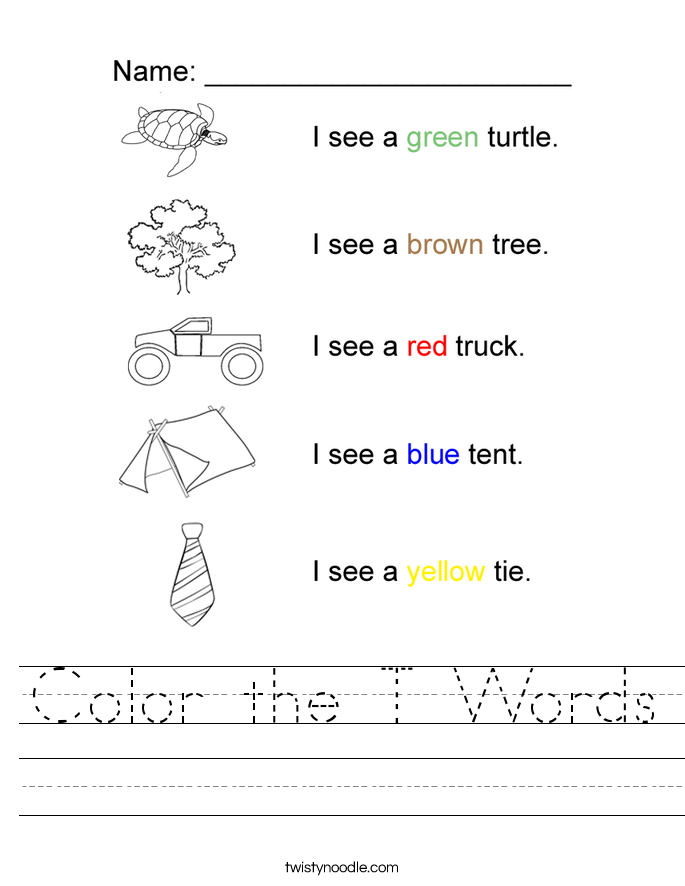 Letter T Worksheet - Tim's Printables