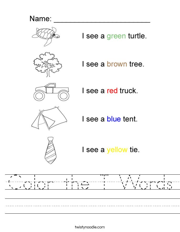Letter T Alphabet Worksheets