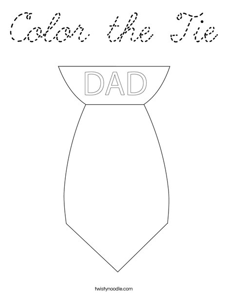 Color the Tie Coloring Page
