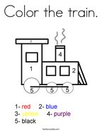 Color the train Coloring Page