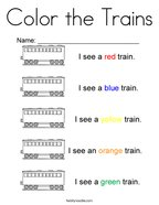 Color the Trains Coloring Page