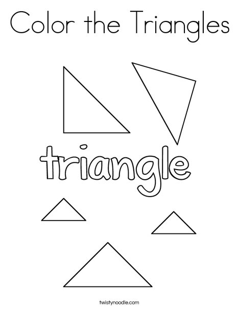 Color the Triangles Coloring Page
