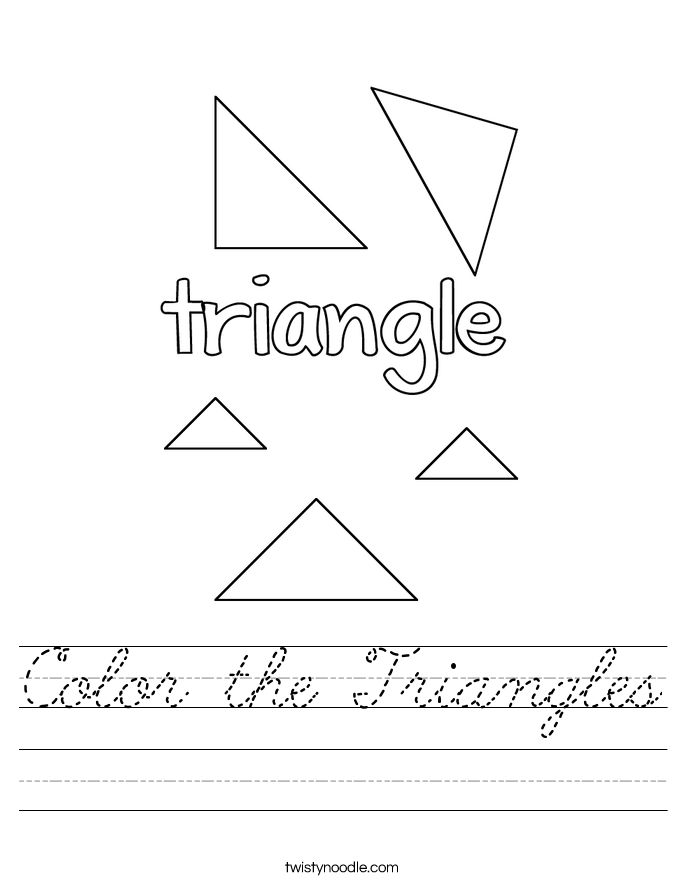 Color the Triangles Worksheet