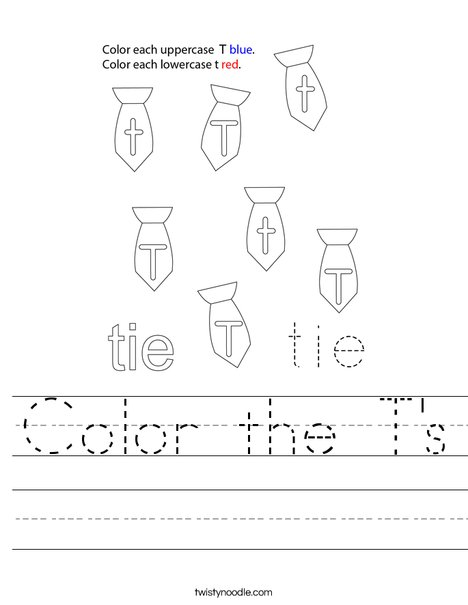 Color the T's Worksheet
