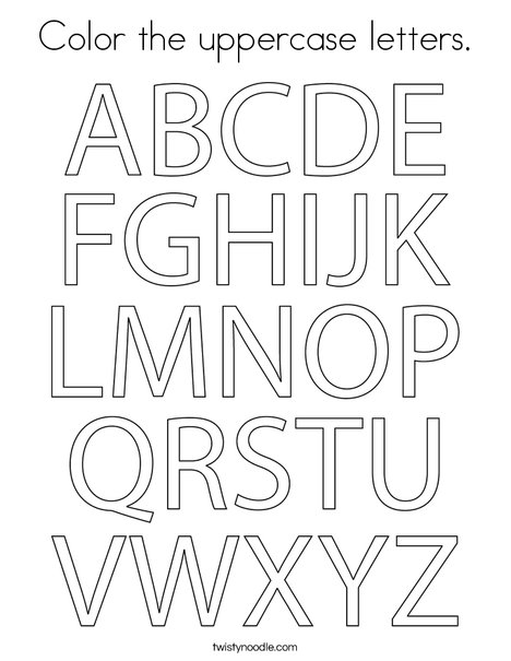 Color the uppercase letters. Coloring Page