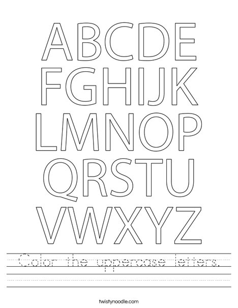 Color the uppercase letters. Worksheet