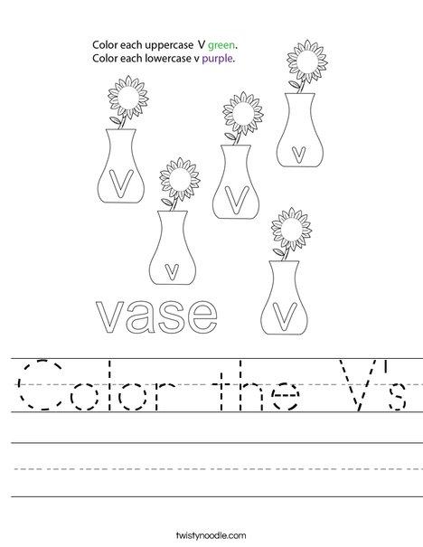Color the V's Worksheet