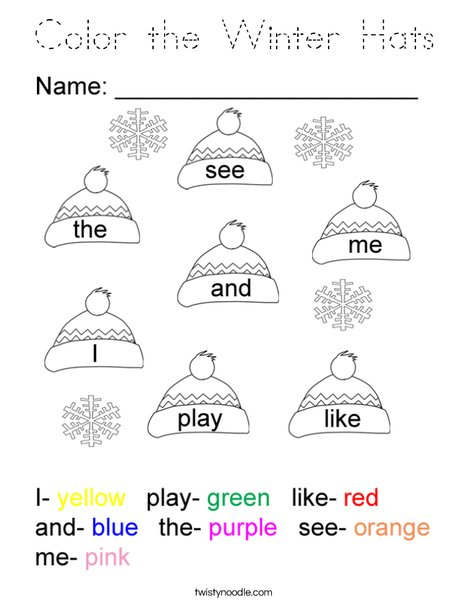 Color the Winter Hats Coloring Page
