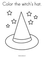 Color the witch's hat Coloring Page