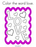 Color the word love. Coloring Page