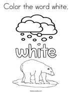 Color the word white Coloring Page