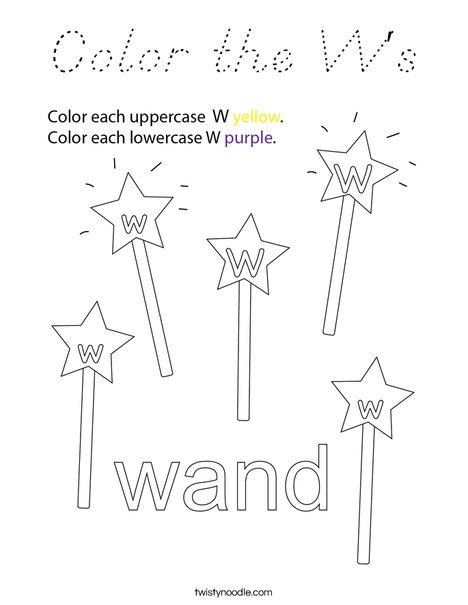 Color the W's Coloring Page