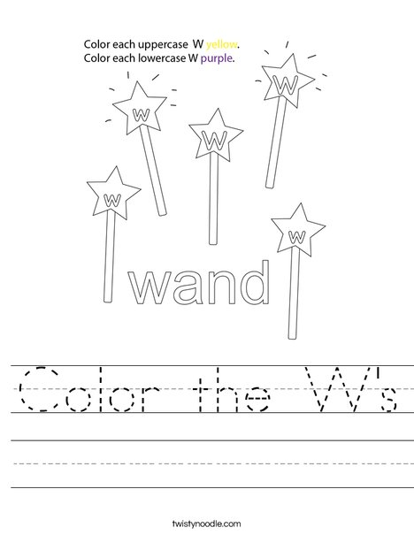 Color the W's Worksheet