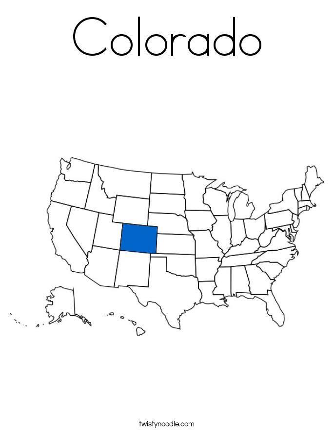 Colorado Coloring Page