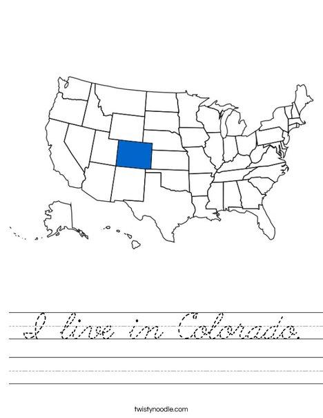 Colorado Worksheet