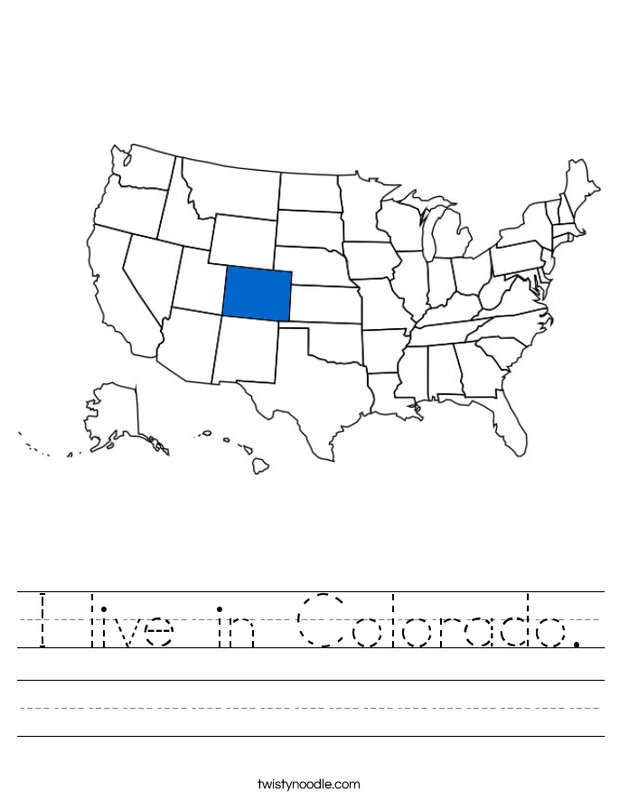 I live in Colorado. Worksheet
