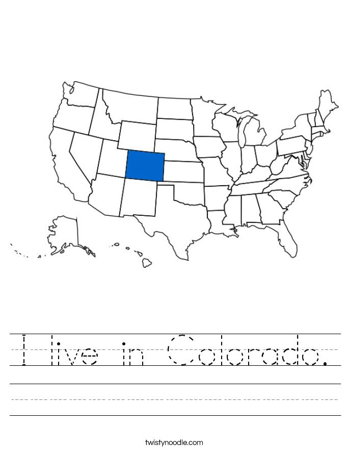 I live in Colorado. Worksheet