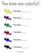 The bats are colorful Coloring Page