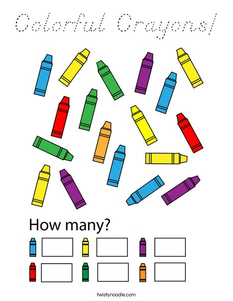 Colorful Crayons! Coloring Page