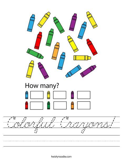 Colorful Crayons! Worksheet