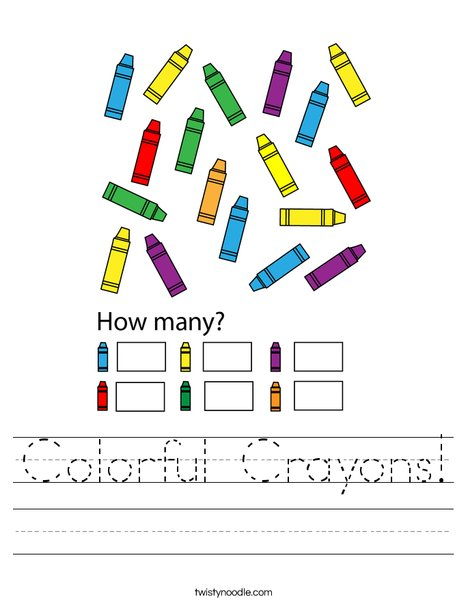 Colorful Crayons! Worksheet